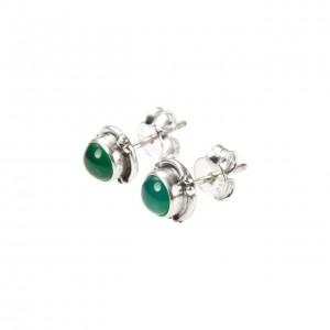 cercei-mici-rotunzi-surub-onix-verde-argint-india-cinps0316